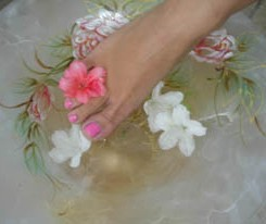 Feet with Flower - Massage Therapy, Stress Relief in Mount Laurel, NJ